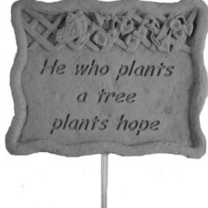 02302 Garden Stake-He Who Plants...