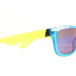 1604233 Womens Two Color Bling Sunglasses, Turquoise & Yellow
