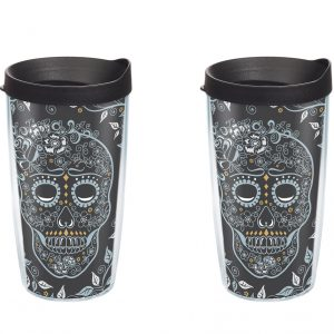 192959803921 Fiesta Skull & Vine 16 oz Tumbler with Lid - Pack of 2