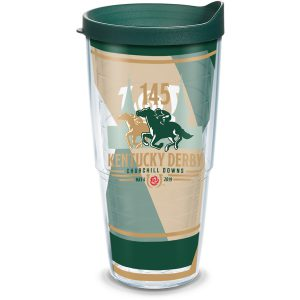 193355007326 Kentucky Derby 145 2019 24 oz Tumbler with Lid
