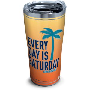 193355013990 Life is Good Every Day Saturday 20 oz Stainless Steel Tumbler with Lid