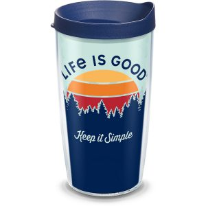 193355014577 Life is Good Keep it Simple 16 oz Tumbler with Lid