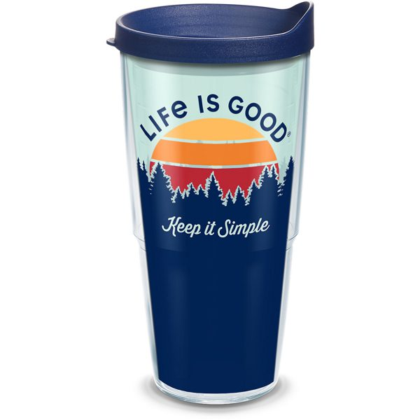 193355014584 Life is Good Keep it Simple 24 oz Tumbler with Lid