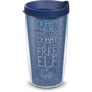 193355014607 Harry Potter Dobby Free Elf 16 oz Tumbler with Lid