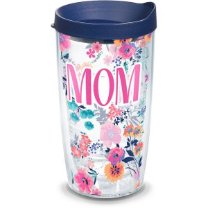 193355030294 Mom Dainty Floral 16 oz Tumbler with Lid
