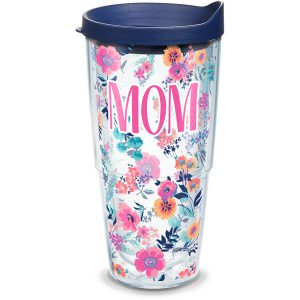 193355030300 Mom Dainty Floral 24 oz Tumbler with Lid