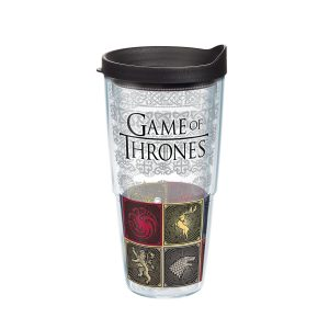 193355032779 Game of Thrones House Sigils 24 oz Tumbler with Lid