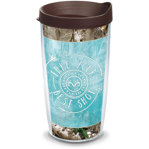 193355034216 Realtree Best Shot 16 oz Tumbler with Lid