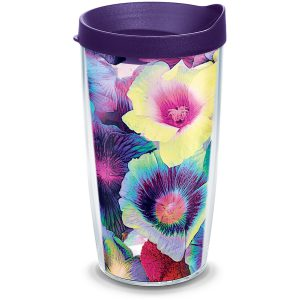 193355034681 Multicolor Floral 16 oz Tumbler with Lid