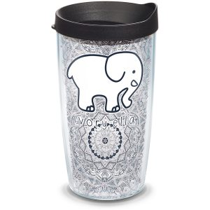193355038832 Ivory Ella Rania Nightshade 16 oz Tumbler with Lid