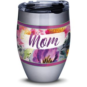 193355039372 Mom Large Blooms 12 oz Stainless Steel Tumbler with Lid