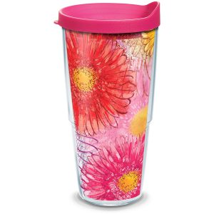 193355042044 Colossal Daisy 24 oz Tumbler with Lid