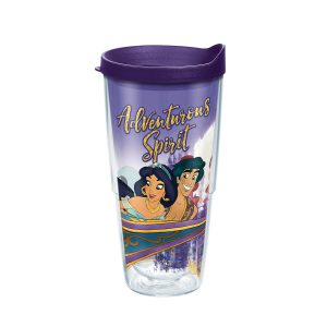 193355042761 Disney Aladdin Magic Carpet Ride 24 oz Tumbler with Lid