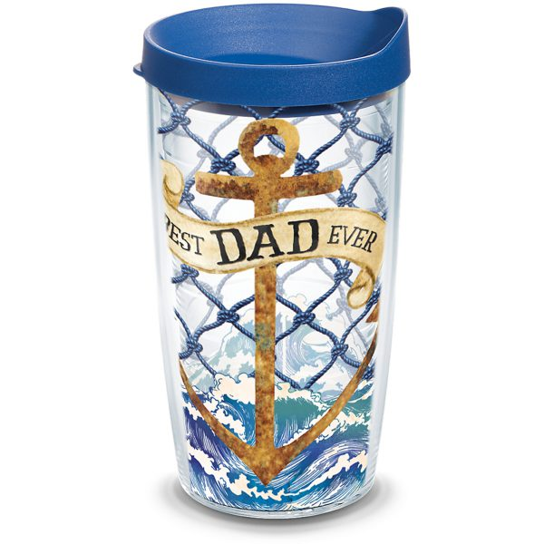 193355045137 Coastal Anchor Dad 16 oz Tumbler with Lid