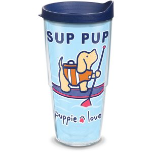 193355057680 Puppie Love Sup Pup 24 oz Tumbler with Lid