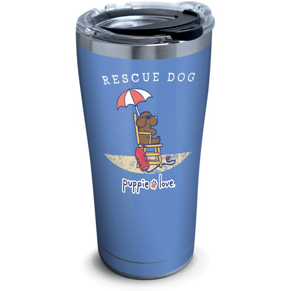 193355057918 Puppie Love Rescue Dog 20 oz Stainless Steel Tumbler with Lid