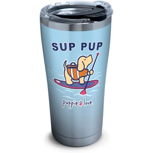 193355057925 Puppie Love Sup Pup 20 oz Stainless Steel Tumbler with Lid