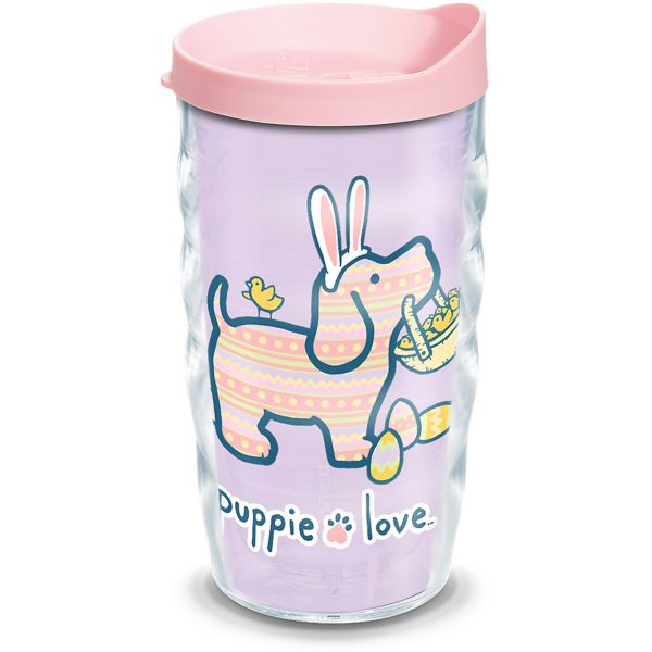 193355058083 Puppie Love Easter 10 oz Wavy Tumbler with Lid
