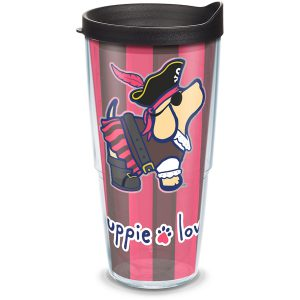 193355058274 Puppie Love Pirate 24 oz Tumbler with Lid
