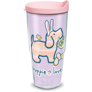 193355058465 Puppie Love Easter 24 oz Tumbler with Lid
