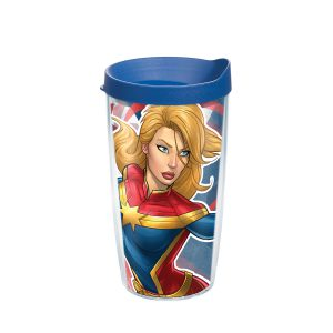 193355064893 Marvel Captain Marvel 16 oz Tumbler with Lid