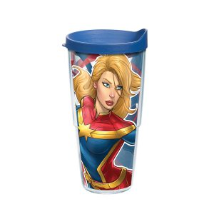 193355064909 Marvel Captain Marvel 24 oz Tumbler with Lid