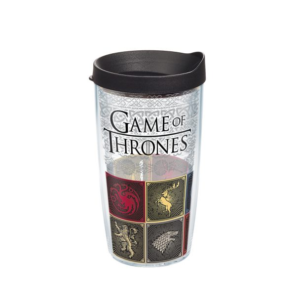 193355075950 Game of Thrones House Sigils 16 oz Tumbler with Lid