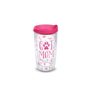 193355114697 Cat Mom 16 oz Tumbler with Lid