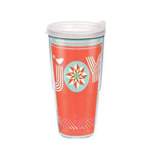 193355132035 Christmas Joy 24 oz Tumbler with Lid