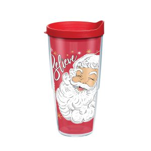 193355137146 Simply Southern Santa Believe 24 oz Tumbler with Lid