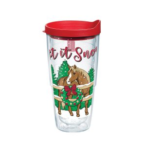 193355137542 Simply Southern Christmas Horse 24 oz Tumbler with Lid