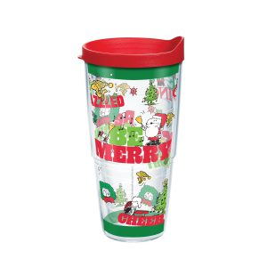 193355139164 Peanuts Holiday 2019 24 oz Tumbler with Lid