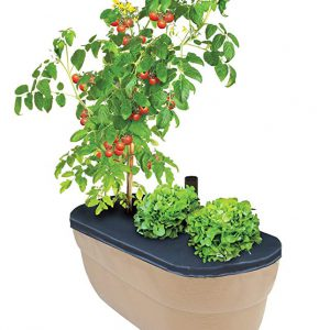 2395-1 14 in. Porch Planter Textured Flower Pot and Herb Garden - Brown