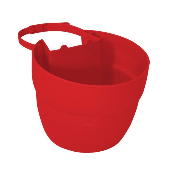 2467-1 Post Planter Both Permanent and Temporary Installation Options Garden in Untraditional Spaces - Red