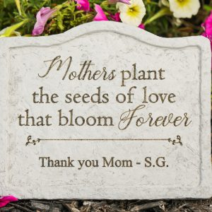 44504 8 x 6.75 in. Mothers Plant the Seeds Memorial Stone in Garden Stake