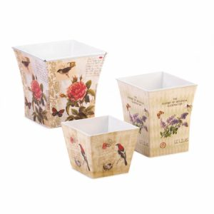 57070898 Illustrated Garden Planter Trio