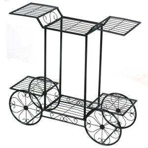 6-Tier Garden Cart Flower Rack Display Decor Pot Plant Holder