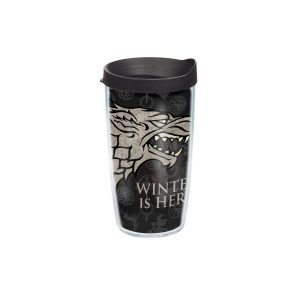 888633560975 Game of Thrones Stark 16 oz Tumbler with Lid