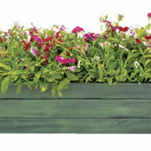 Achla VFB-05 Galvanized Tin Window Box Garden Planter - Powder Coated in Green Patina- Standard