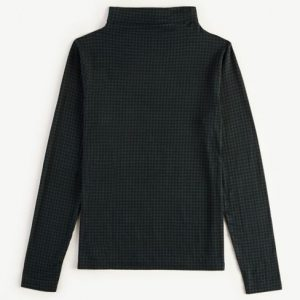 Ann Taylor Houndstooth Turtleneck Top
