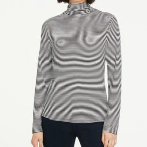 Ann Taylor Petite Striped Turtleneck Top