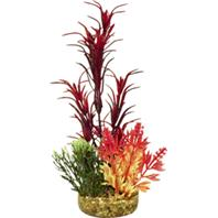 Blue Ribbon Pet Products 006099 Colorburst Florals Garden Bouquet Plant - Red