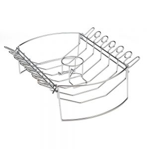 CBB-410 4-in-1 BBQ BasketRib, Roast Beer Can Chicken & Wing Rack