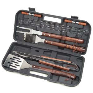 CGS-W13 13 Piece Wooden Handle Grilling Set