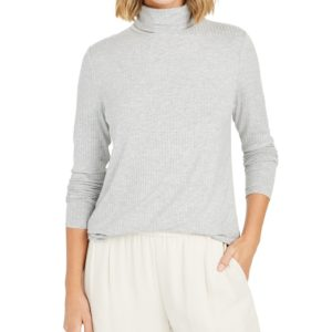 Charter Club Petite Heathered Turtleneck, Created For Macy's