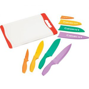 Conair-Cuisinart C55CB-9PR Advantage Cutting Board & Knives Set - 9 Piece