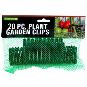 HW847 Garden Plant Clips, Green & Metallic