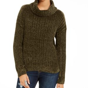 Hippie Rose Juniors' Chenille Turtleneck Sweater