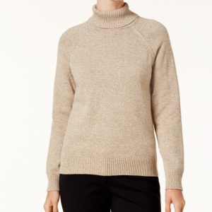 Karen Scott Marled Cotton Turtleneck Sweater, Created for Macy's