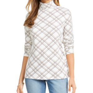 Karen Scott Plaid Turtleneck, Created for Macy's